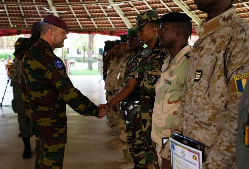 Cérémonie de clôture du cours pour officiers de liaison du G5 Sahel