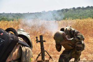 Mortar shoot in Kalifabougou