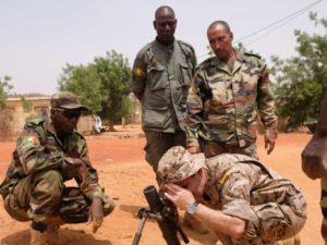 Malian soldier trained