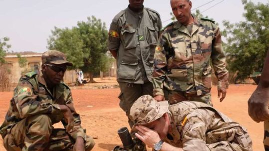 Malian soldier trained