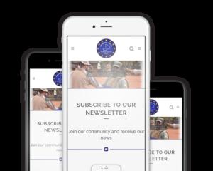 Newsletter smartphone en