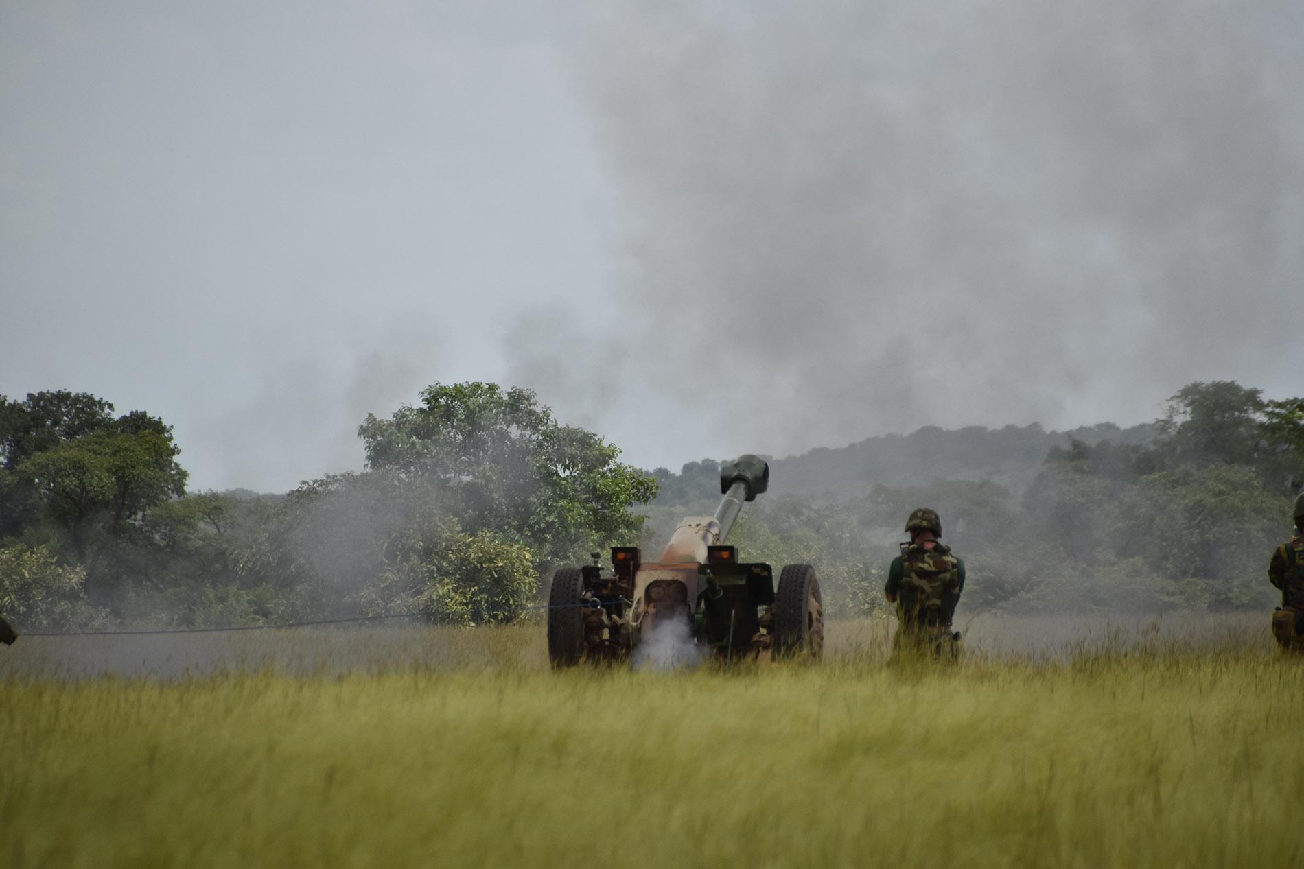 D-30 HOWITZER FIRING