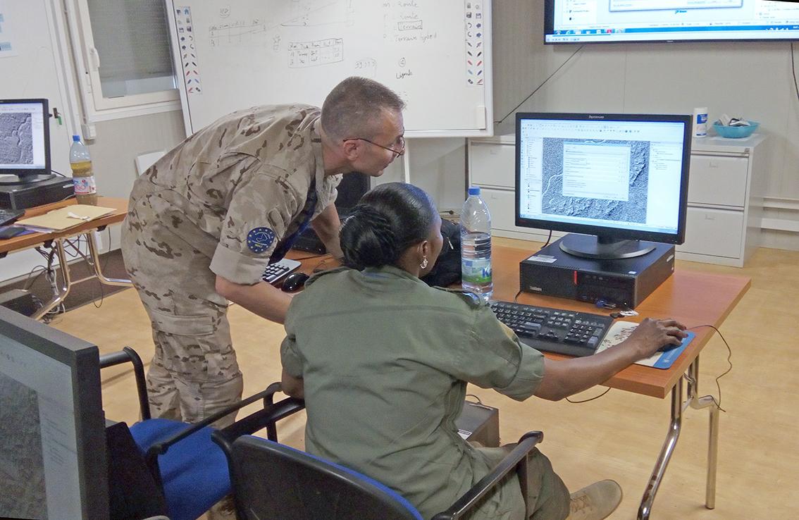 EUTM Mali organise l'entrainement du personnel des FAMas en matière de Systèmes d'Information Géographique