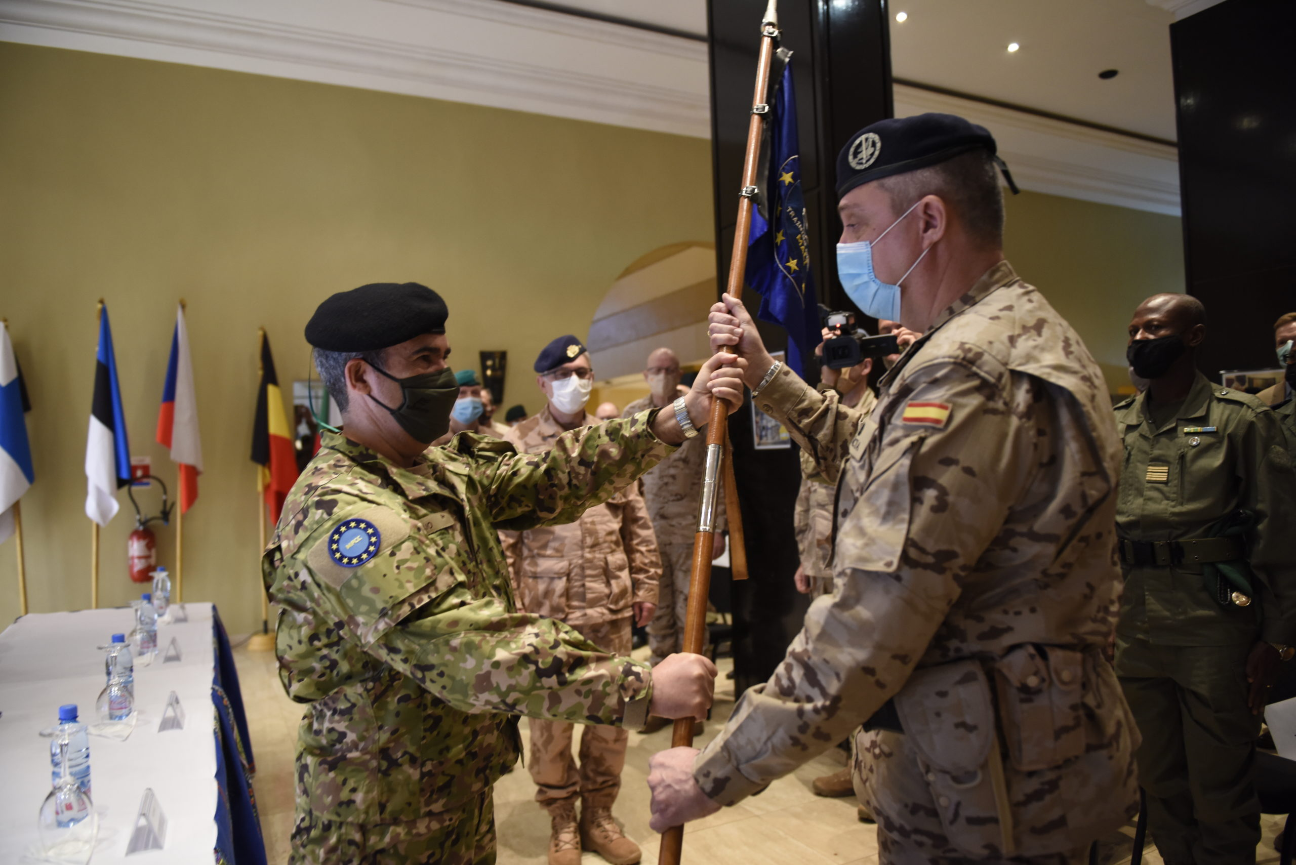 CHANGE OF COMMAND OF EUTM MALI MISSION FORCE COMMANDER