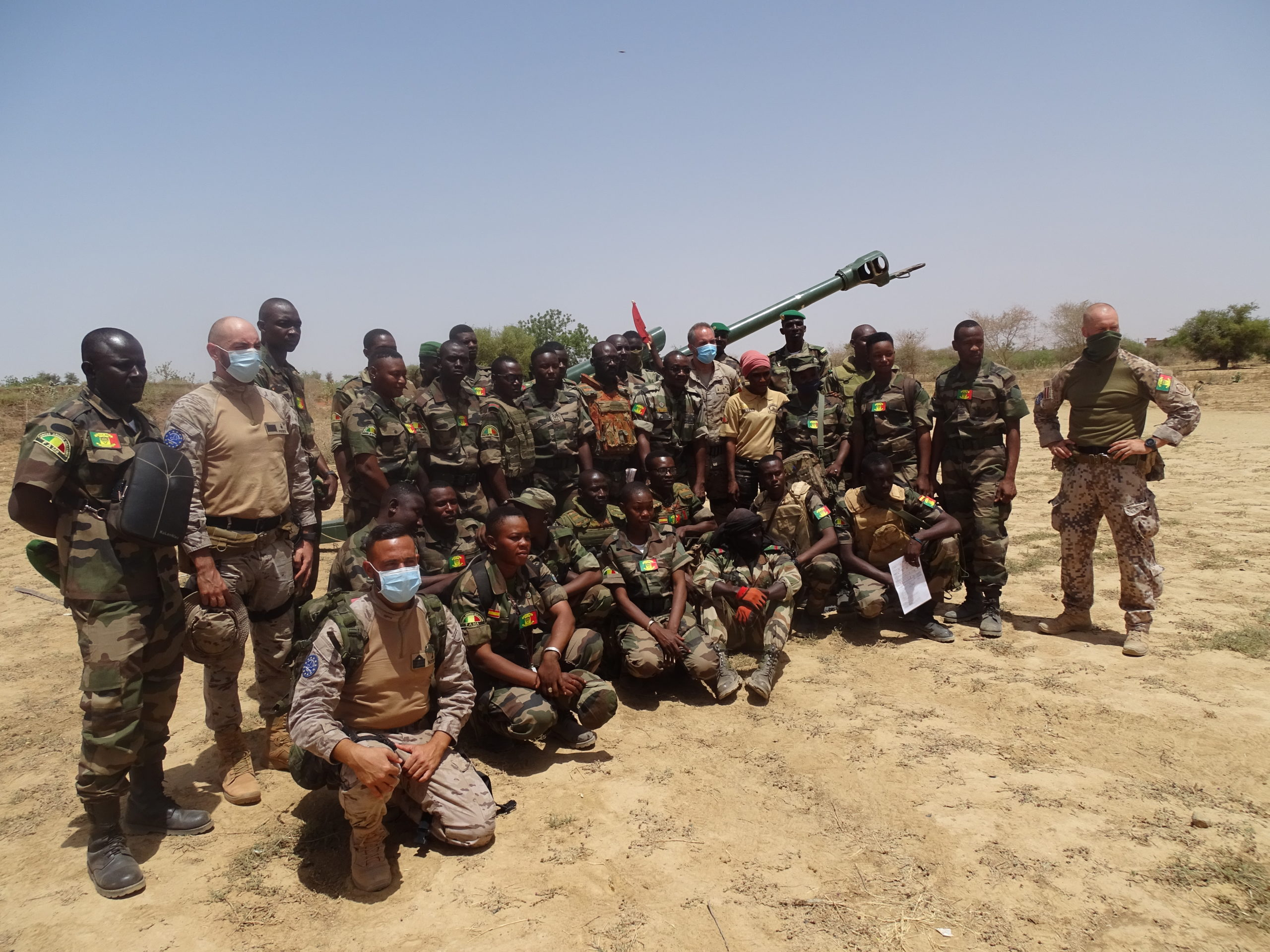 YOUNG MALIAN SOLDIERS BECOME THE PIONEERS OF THE 614TH FIELD ARTILLERY BATTERY